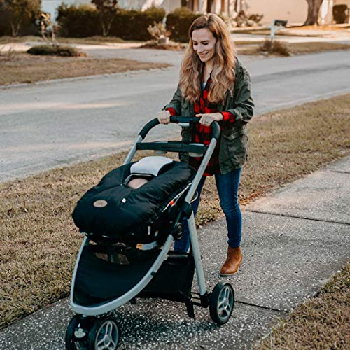 Cozy Cover Infant Car Seat Cover (Black Quilt) - The Industry Leading Infant Carrier Cover Trusted by Over 6 Million Moms Worldwide for Keeping Your Baby Cozy