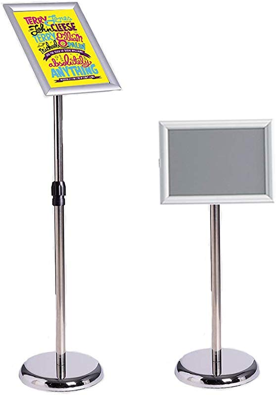 Office Sign Billboard Display Stand Aluminum Alloy Board Sign Stand Vertical Floor Display Board Propaganda Display Stand Poster Stand 8 5x11inches Silver