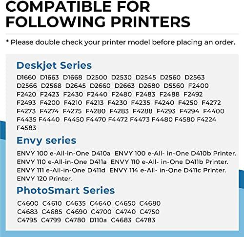 Penguin-Cartucho de Tinta Remanufacturado para HP 300XL 300 XL Compatible con PhotoSmart C4600 C4635 C4750 Deskjet D1660 D2500 F2420 F4400 F4583 Envy 100 110 120 D410a D411c (2 Negro)