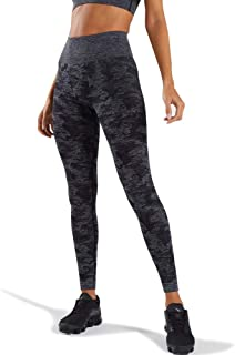 WODOWEI Women?s High Waisted Camo Seamless Yoga Pants 7/8 Length Capri Leggings (W426-black-S)