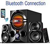 Boytone BT-324F, 2.1 Bluetooth Powerful Home Theater Speaker Systems, with FM Radio, SD