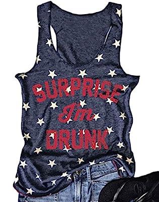 Women's Summer Letter Print T-shirt Sleeveless Funny Tank Tops Vest