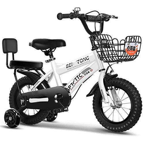 WGYHI Bicicleta,con Ruedas Auxiliares Chico Bicicleta Altura del Vehículo Ajustable Sillín Ajustable 12 14 16 18 Pulgada Bicicleta Ligero Portátil Ultraligera Niña Unisex Bici -16inch-K
