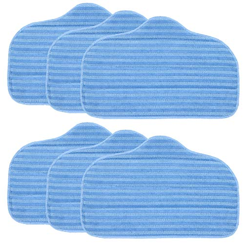 FUSHUANG 6 Pack A275-020 Microfiber Cleaning Pads Compatible with McCulloch MC1275 and Steamfast Canister steam Cleaner Models SF-275, SF-370