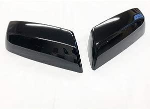 S SIZVER Ultra Finish Glossy-Black Series 2pcs Top Half Mirror Covers Compatible with 2014-2019 Chevrolet Silverado+GMC Siera 1500+2500+3500 Non-Towing Mirror Model
