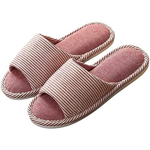 nanxing Zapatillas de interior para mujer Zapatillas de casa cómodas Zapatillas de tela para el hogar