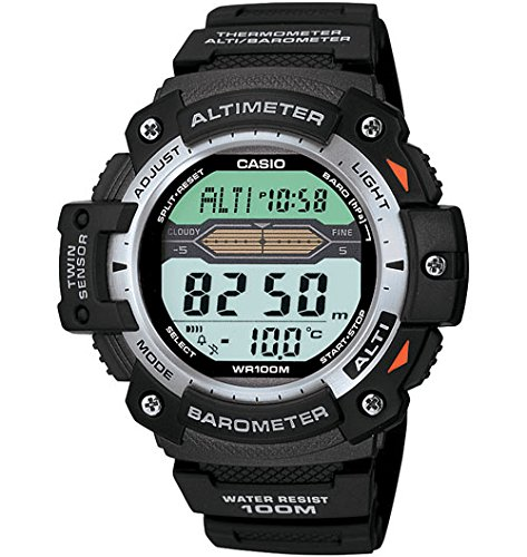 Casio Twin Sensor - Reloj (Resina, CR2016, 47 g, 49,2 x 50 x 14,1 mm, Negro)