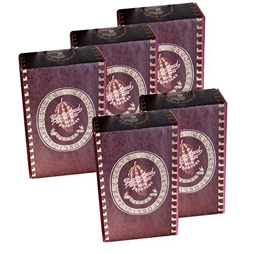カフェック プラリネチョコレート2種(2粒)5個セット/ベーシックブラウンボックス (ブランデーミルクトリュフ2ケ)