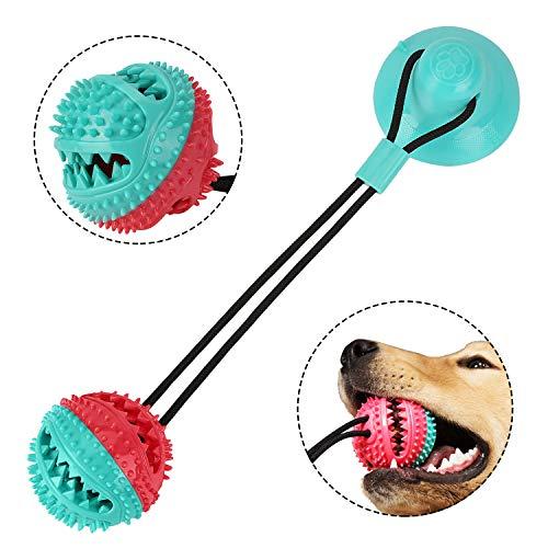 Sooair Hund Saugnapf, Hundespielzeug Saugnapf Zahnreinigungsgeräte für Hunde und Katzen Hundespielzeug mit Saugnapf Hundespielzeug mit Saugnapf Hundespielzeug Saugnapf Ziehen, Kauen, Spielen (Rund)