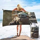 Happy cat diy shop Yoda Baby Badetuch Schnelltrocknende weiche Strandbadehandtücher für Reisecamping Turnhallen Badetuch