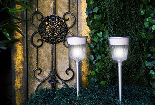 Mooni Solar Garden Path Lighting - 'Solar Ra' - Solar Path Light - Set of Three (3) Lights