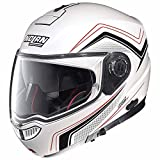 Nolan N104Absolute como–Casco Moto policarbonato N- Com–Metal Blanco Tamaño 2X L