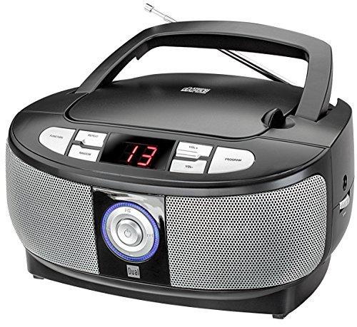 Dual P 49-1 Boombox mit CD-Player (UKW-Radio, LED-Display, Netz- oder Batteriebetrieb) schwarz