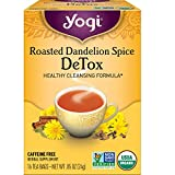 Yogi Tea - Roasted Dandelion Spice DeTox (6 Pack) - Healthy Cleansing Formula - 96 Tea Bags