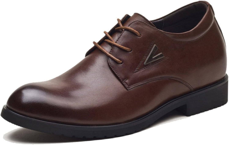 LEDLFIE Men's Leather shoes Breathable Lace-up Business Casual shoes