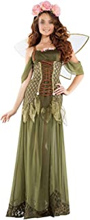 New Halloween Costumes Party Uniforms Nightclub DS Party Spirit Plays Flower Fairy Dress (Color : Green, Size : S)