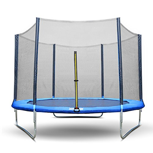 Ultra Power Sports - Rete di sicurezza per trampolino, diametro: 245 / 305 / 366 / 430 mm, ingresso con doppia zip ed anelli (per modificare la dimensione), senza materasso a molle, rete di sicurezza unica