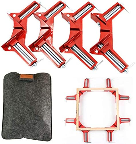 GoLucky7 Right Angle Clamp 90 Degrees Corner Clamp Picture Frame Holder Glass Holder DIY Woodworking product image