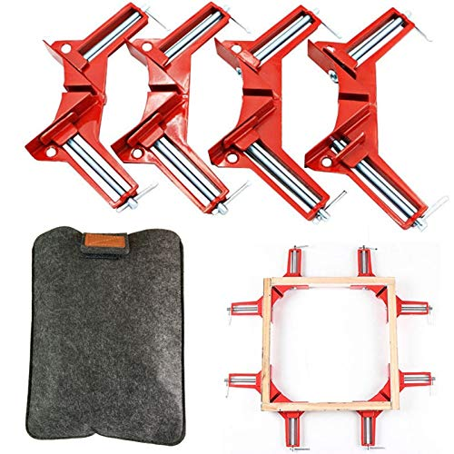 GoLucky7 Right Angle Clamp, 90 Degrees Corner Clamp, Picture Frame Holder, Glass Holder, DIY Woodworking Hand Tools