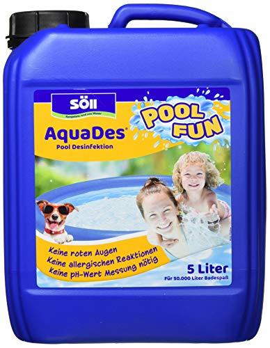Söll 10750 AquaDes Pool-Desinfektion flüssig 5 l - wirksame Poolreinigung Wasserpflege gegen Bakterien und Keime zur Desinfektion von Pool Planschbecken Schwimmbad Kinderbecken Kinderpool