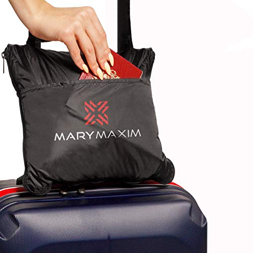 Mary Maxim Packable Fleece Airplane Travel Blanket, Camping Blanket, for Planes, Car, Train, Hiking, Outdoors, Festival, Beach or Picnic, Soft & Comfortable, Foldable & Compact, Travel Accessories