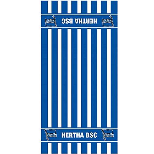 Hertha BCS Handtuch blau/weiß 50x100 cm