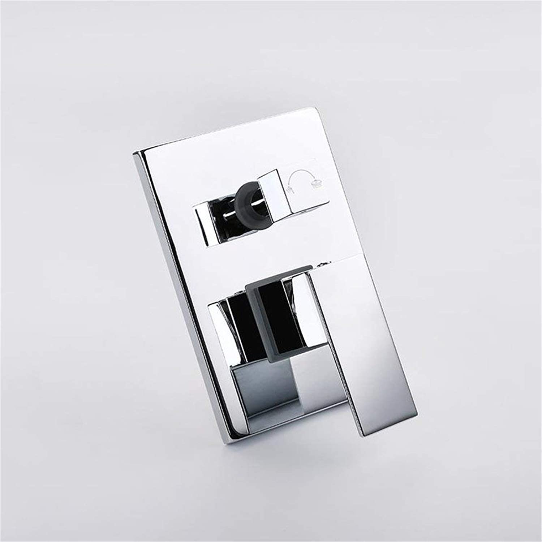 In-Wall Grünckte Dusche, heies und kaltes Wasser Regen Multi-Funktions-Dusche, Wasserhahn (Farbe   -, Gre   -)