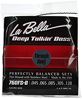 La Bella 760FS Deep Talkin Bass Flatwound Bass Strings - Through Body - 5-String