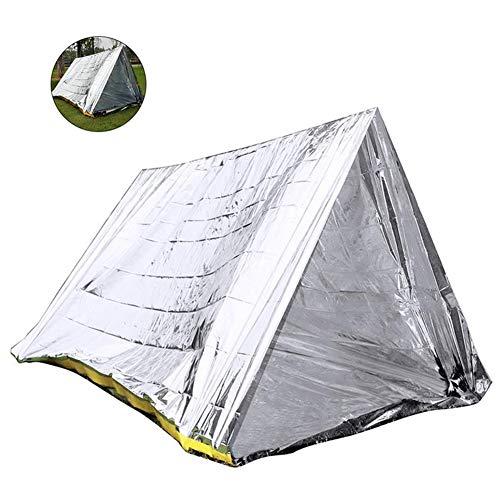 housesweet Abri Thermique de Survie Mylar Couvertures Tente de Secours de Tente de Tube de Vie pour la randonnée Camping extérieur réutilisable imperméable à leau