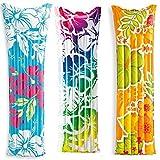 Premium Luftmatratze Flowers (183 x 69 cm) 1 x Matratze - Luft Matratze Luftbett aufblasbar Liege Schwimmliege Schwimmring Schwimm Ring Pool Lounge Wellig Wellen Blumen Blumenmuster