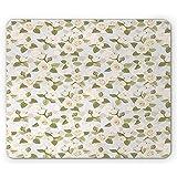 Pastellmausunterlage, getonte Elfenbein-Rosen-englischer Garten-ununterbrochenes Muster-Natur-Kunst...