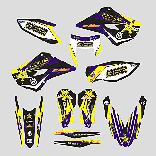 JFG Racing Personalizado Motocicleta Pegatinas Adhesivas Completas Pegatinas gráficos Kit para 2014-2016 Husqvarna TE 125-250-300 FE 250-350 350S-450-501 501S