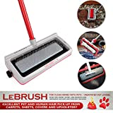 LeBrush 2.0 Universal Pet Dog Cat Hair Remover Brush Broom Tool, Multi-Functional Carpet & Fabric Cleaning Broom Brush Tool for Picking up Cat, Dog, Pet Hair Fur with Vacuum Cleaner Adapter