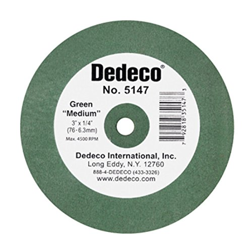 New DDC Lathe Wheel Green Medium 5147 3x1/4 Ea