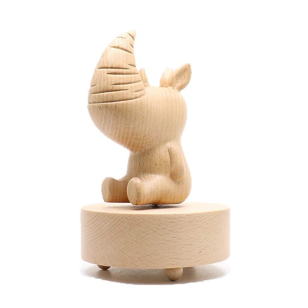 Xu Yuan Jia-Shop Forma de Madera de Madera Caja de música Caja de música giratoria Regalo de cumpleaños de Vacaciones Creativo es Enviar Amistad de graduación (Color : Rhinoceros): Amazon.es: Hogar