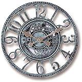 Cakunmik Relojes De Jardín Al Aire Libre A Prueba De Agua, Retro Estéreo 3D Relojes Al Aire Libre para El Jardín Reloj De Pared Exterior Creativo Montado En La Pared, 12 Pulgadas