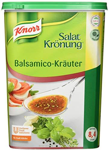 Knorr Salatkrönung Balsamico-Kräuter Dressing (Salatdressing einfach zuzubereiten, flexibel einsetzbare Salatsoße) 1er Pack (1 x 1 kg)