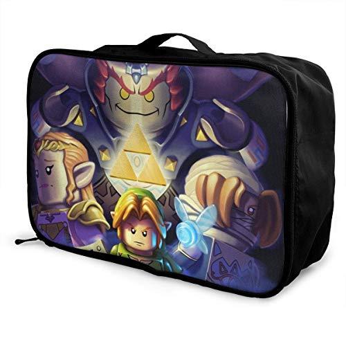 Ocarinaof Time Travel Lage Duffel - Bolsa impermeable para mujer, hombre, niño, gran capacidad, maleta ligera y portátil