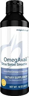 Designs for Health OmegAvail Smoothie - Citrus Sorbet TG Fish Oil Emulsion, Triglyceride Fish Oil (29 Servings / 16oz)