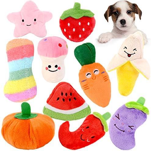 Legendog Squeaky Dog Toys 10pcs Dog Puppy Toy Packs Cute Soft Plush Small Dog Toys Small Stuffed product image