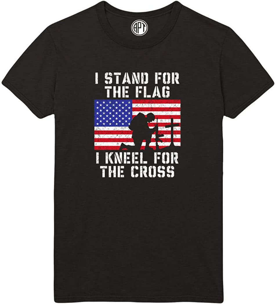 Stand for Flag Kneel for Cross Printed T-Shirt