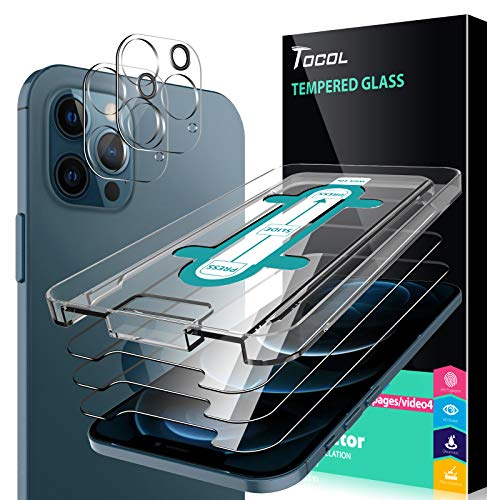 TOCOL 5 Piezas Protector de Pantalla para iPhone 12 Pro MAX 5G...