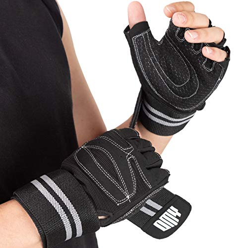 DMY Weight Lifting Gym Gloves for Men & Women-Best Workout Gloves with Wrist Support-Exercise Gloves for Weightlifting Training Fitness Hanging Pull ups-Full Palm Protection