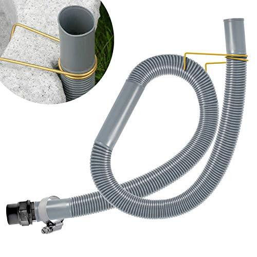 ENTNAHME-SET für REGENTONE und REGENFASS, für REGENWASSERTANK mit SCHLAUCH in grau/braun und WANDDURCHFÜHRUNG (ca. 32mm= 5/4 Zoll)