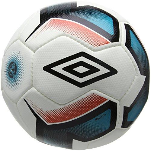 Umbro Neo Professional Football, Unisex, Neo Professional, White/Black/Bluebird/Grenadine