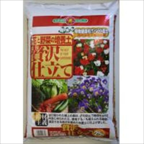 SUNBELLEX 花と野菜の培養土 贅沢仕立て 25L×6袋
