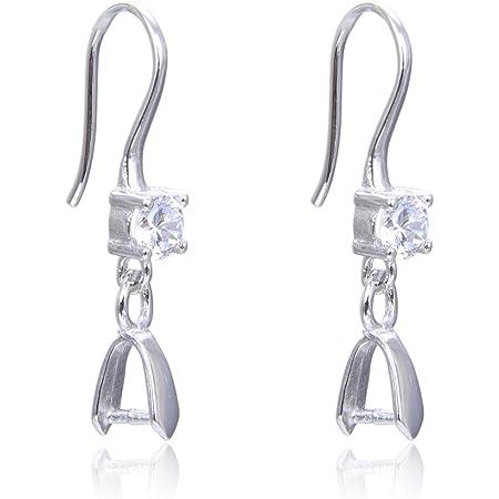Dangle Sterling Ear Hooks 1 78 Angel Earrings with Lepidolite