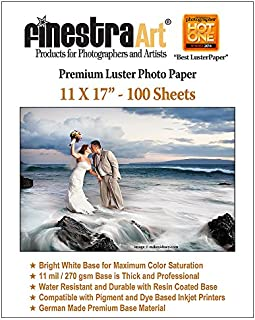 11x17 100 Sheets Premium Luster Inkjet Photo Paper 270GSM
