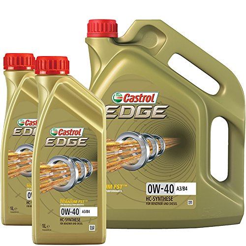 Castrol 10801170 Motoröl Edge Fluid Titanium 0W-40 A3/B4, 7 Liter