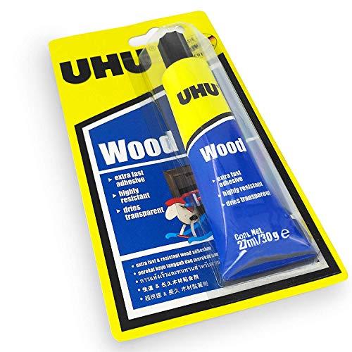 UHU Trälim – Extra snabbt lim – lösningsmedel – 27 ml